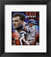 Framed Kris Bryant 2015 National League Rookie of the Year Portrait Plus