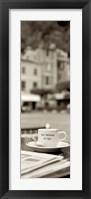 Portofino Caffe II Framed Print