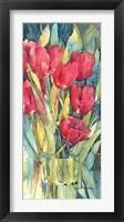 Framed Red Hot Tulips
