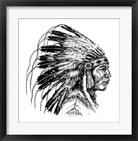 Framed Native American Head