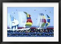 Framed Sail Boat