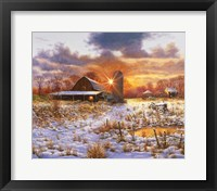 Framed Snow Barn