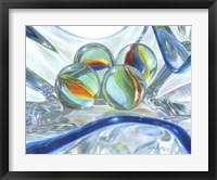 Framed Bowl Of Marbles