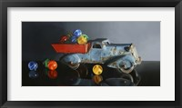 Framed Antique Toy Truck