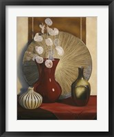 Framed Still Life with Red Vase
