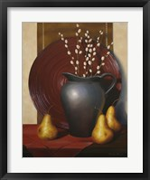 Framed Still Life with Black Vase