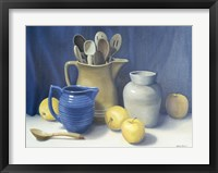 Framed Blue Pitcher