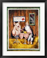 Framed Wine, Dine & Swine