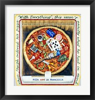 Framed Pizza With Everthing