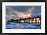 Framed Sunset Through Oceanside Pier