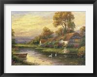 Framed Lakeside Cottage