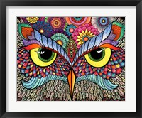 Framed Owl Face