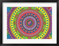 Framed Aztec Rainbow
