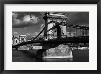 Framed Budapest Chain Bridge BW