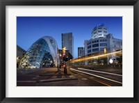 Framed Eindhoven Nighttime Cityscape
