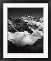 Framed Mountains BW