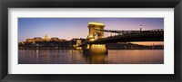 Framed Panorama Budapest Chain Bridge