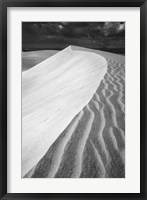Framed Sand Wind and Light No 3 BW