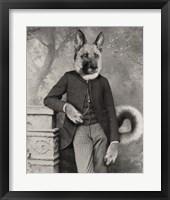 Framed Hans The German Shepherd