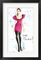 Framed Pink Flamenco