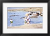 Framed Lindsay At The Beach