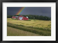 Framed Ohio Farm Rainbow