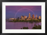 Framed Rainbow over Cleveland