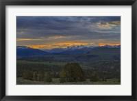 Framed Yellowstone Sunrise