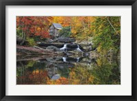 Framed Grist Mill In The Fall