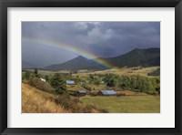 Framed Montana Farm Rainbow