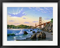 Framed Golden Gate Sunset, CA 2