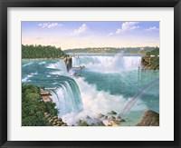 Framed Niagara Falls In 1860
