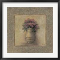 Red Flowers In Vase 2 Framed Print