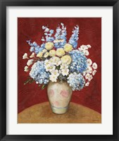 Floral O Framed Print