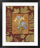 Flowers With Leaf Border Framed Print