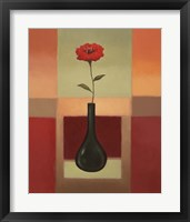 Black Vase 2 Framed Print