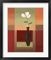 Black Vase 3 Framed Print