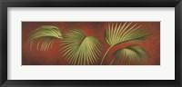 Palms On Burgundy 2 Framed Print