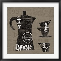 Linen Coffee I Framed Print