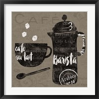 Linen Coffee II Framed Print
