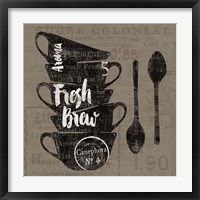 Linen Coffee III Framed Print