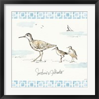 Sandpiper Sea II Framed Print