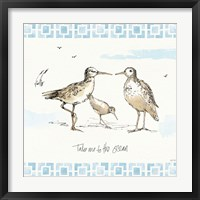 Sandpiper Sea III Framed Print