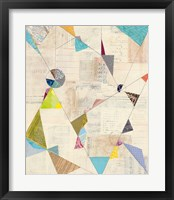 Geometric Background I Framed Print