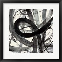 Roller Coaster I on White Framed Print