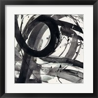 Roller Coaster II on White Framed Print