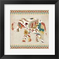 Boho Elephant II Framed Print