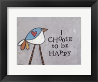 Framed Choose Happy