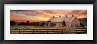 Framed Sunset In The Valley