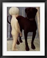 Framed Child And Dog